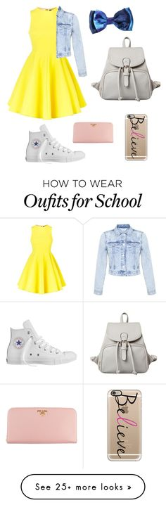 """Back to School"" by justemma3 on Polyvore featuring AQ/AQ, Converse, Prada, Casetify and Miss Selfridge"