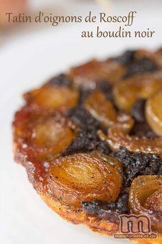 une recette de Tatin d'oignons de Roscoff au boudin noir -