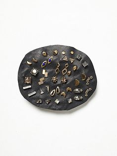 Free People Natural Stone Stud Set at Free People Clothing Boutique