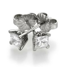 Diamond Stud Earrings 950 Platinum 1.10 ctw Certified Princess Cut 1/2 ct Center Stones H Color SI2 Clarity Brillianteers. $2774.00. We commit to provide you with the Best Possible Value for your Money.. Brillianteers offers a 30 day return policy on all of its products.. We only sell 100% Natural, un-treated , conflict free diamonds.. Free Worldwide Insured FedEx shipping.. We offer FREE ring resizing - rings are available in all sizes.