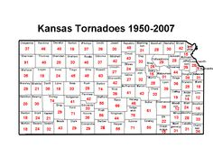 Image Detail for - ... distribution of tornadoes in Kansas since 1950. Click to enlarge