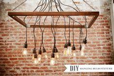 Make It: A DIY Hanging Light Bulb Chandelier!