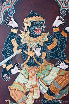 ramayana-thai-art-fairy-14703015.jpg (598×900)