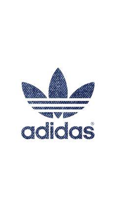 [デニム]アディダスロゴ/adidas Logo1iPhone壁紙 iPhone 5/5S 6/6S PLUS SE Wallpaper Background