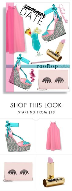 """""""Summer date rooftop bar"""" by thestrawberryfields ❤ liked on Polyvore featuring Gucci, MANGO, La Regale, MDMflow and Urban Decay"""