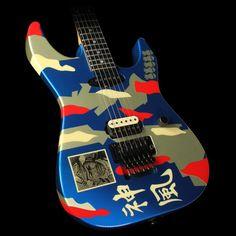 george lynch esp tiger guitar george lynch used 2008 esp george lynch kamikaze 2 electric guitar blue
