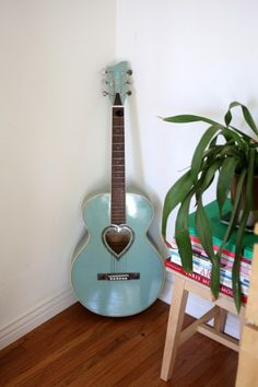 """TOUCH this image: """"Lili's old JJ Hart guitar. It's really a child's guitar,... by FvF"""