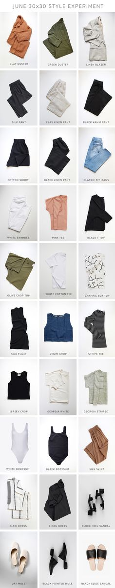 Style Bee: A really GREAT resource for inspiring 30 item capsule wardrobes