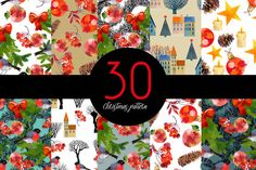 Christmas pattern collection by Tatiana_davidova on @creativemarket
