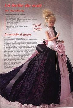 Mimin Dolls: French magazine dresses for Barbie