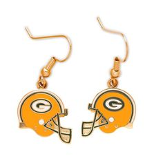 Green Bay Packers Logo Wire Earrings  -