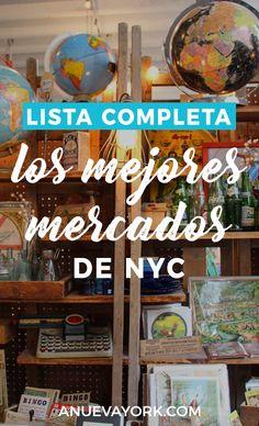 Los mejores mercadillos de Nueva York (antigüedades, comida, ropa...). Lista completa y fechas. #NuevaYork Time Travel, Solo Travel, Nyc Go, Road Trip Map, Travelling Tips, Traveling, Travel Tips, I Love Ny, New York Travel