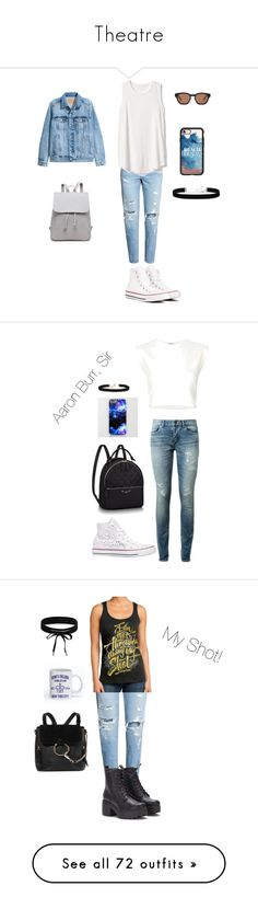 """""""Theatre"""" by jules16280 ❤ liked on Polyvore featuring H&M, Gap, Converse, TOMS, Casetify, 2028, Yves Saint Laurent, Puma, Vanessa Mooney and Chloé"""