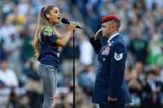 Pin for Later: How Ariana Grande Became a Household Name in 2014 And Sang the National Anthem at an NFL Game