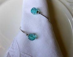 Porta guardanapo cristal azul Tiffany