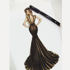 Custom illustration created for Cassandra..wearing a beautiful @waltercollection…