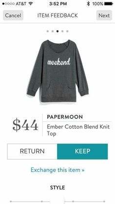 Totally my style. I live in this type of sweater during cooler weather on the wkends.