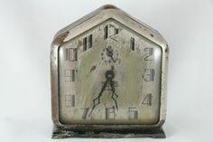 1920's The Gable 8 Day Alarm Clock Working Art Deco Metal Igraham