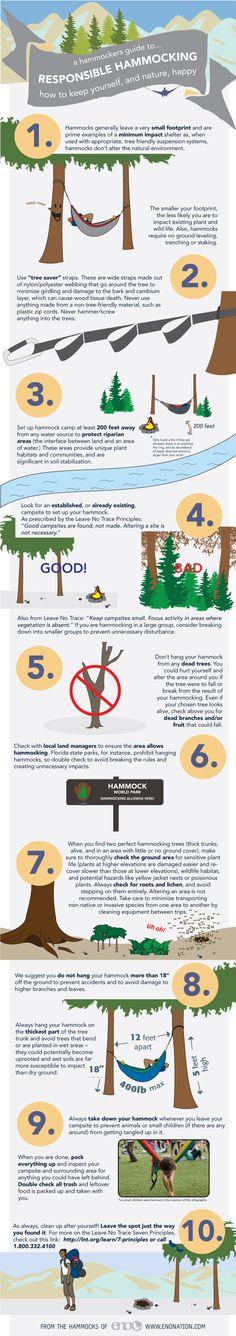 responsible hammocking infographic