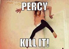 When Annabeth sees a spider...