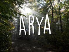 (pronounced ar-ee-uh, like Aria)