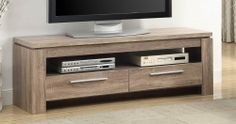 701975 TV Console - Weathered Brown