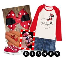 Minnie Mouse by saram0223 on Polyvore featuring polyvore, fashion, style, J.Crew, Converse, Uniqlo and Disney