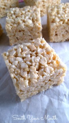 Best EVER Rice Krispie Treats… These aren't your plain-jane, back-of-the-box-recipe crispy rice treats.