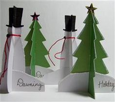 These 3-D place cards are perfect for your next holiday gathering! By SandeeNC