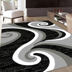 2702 Turquoise Abstract Contemporary Area Rugs Diy Room