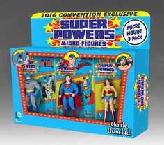 Super Powers Micro Figure 3 Pack 2016 SDCC Exclusive