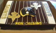 "New Orlean Saints cake. Exactly what I was thinking for my ""25th"" bday."