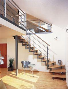 innentreppe stahltreppe mit holzstufen buche treppe stahl holz treppen pinterest haus och. Black Bedroom Furniture Sets. Home Design Ideas