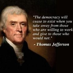 The Democracy will cease to exist when...