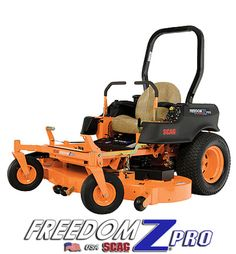 """Scag Freedom Z Pro -- """"That Scag will last just as long if not longer and it will cut just as good if not better so no, you didn't make a bad choice. I used a Freedom Z for a couple weeks while waiting for my main mower to come in. I can't say anything bad about them, it cut great, held hills fine."""""""