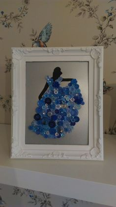 Disney inspired Cinderella button art #clairescraftboutique