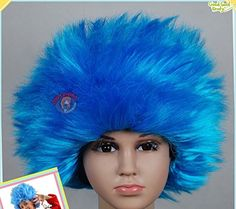 Kids' Costume Wigs - Toddler Size Thing 1 Thing 2 Dr Seuss Suess Cat in the Hat STRAIGHT Wig ** Check out this great product.