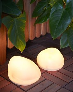 Create an inspirational, glowing walkway right at home! IKEA SOLVINDEN LED solar-powered floor lamps are shaped like rocks to create dreamy light and make your backyard feel like a fairytale.