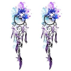 Tatouage temporaire éphémère Attrape rêve : Lotus Dreamcatcher - 2 pieces - ArtWear Tattoo