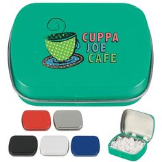Customized Mints Tins with Your Logo.  For details on how to order this item with your logo branded on it contact ww.fivetwentyfour.ca