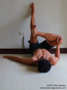 Some Restorative Yoga Poses Using a Wall