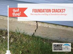 Foundation cracks can hide deeper damage. #RedFlag from #FamWS!