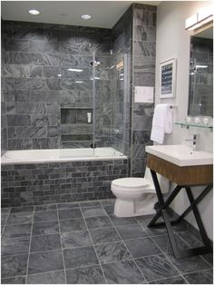 awesome Elegant Grey Slate Tiles for Bathroom