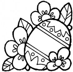 Easter Egg Picture to Color and Print