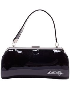 Cover Girl Purse in Glossy Black at PLASTICLAND