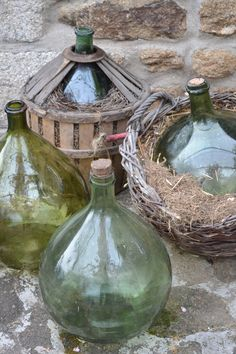 French Vintage and Antique DemiJohns