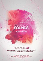 Futuristic ColorPhonic Sounds Flyer