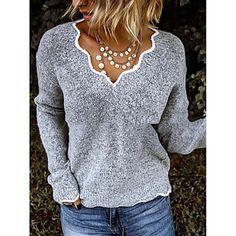 LightInTheBox - Παγκόσμιες Online Αγορές για Φορέματα, Σπίτι & Κήπος, Ηλεκτρονικά Προϊόντα, Ένδυση Γάμου Cheap Sweaters, Long Sweaters, Pullover Sweaters, Sweater Cardigan, Sweaters For Women, Black White Red, Black N Yellow, Pink Grey, France Outfits