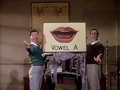 """Donald O'Conner and Gene Kelly in """"Moses Supposes"""" number from """"Singin' in the Rain"""""""