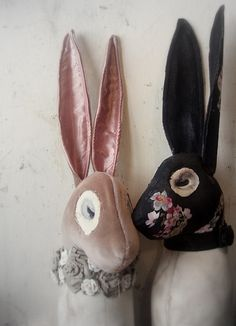 Rabbits from Mister Finch textile art